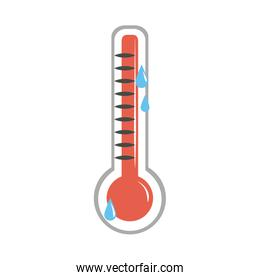 online doctor thermometer temperature testing care flat style icon