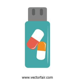 online doctor flash drive medicine pharmacy care flat style icon