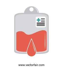 online doctor donation blood bag medical care flat style icon