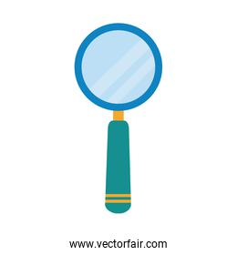magnifying glass researching home education flat style icon