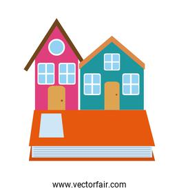 houses book learn read home education flat style icon