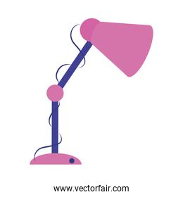 desk lamp equipment home education flat style icon