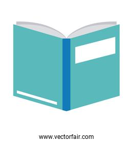open book literature read home education flat style icon