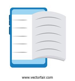 smartphone book homework home education flat style icon