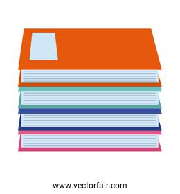 pile of books literature knowledge home education flat style icon