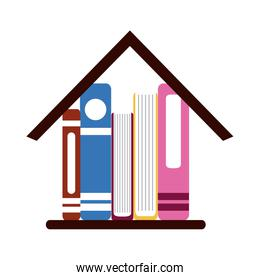 books in house learning home education flat style icon