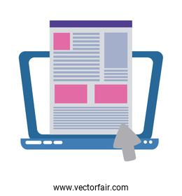 laptop click website home education flat style icon