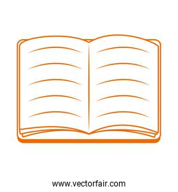 open book read home education line color style icon