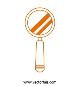 magnifying glass researching home education line color style icon