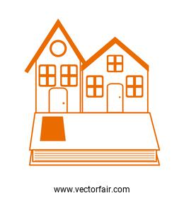 houses book learn read home education line color style icon