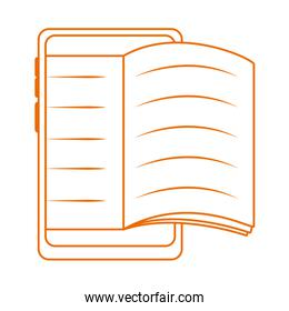 smartphone book homework home education line color style icon