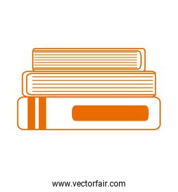 stack of books supplies home education line color style icon