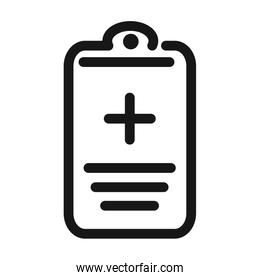 report medical clipboard medical and health care line style icon