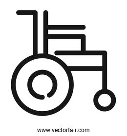 wheelchair disability equipment medical and health care line style icon