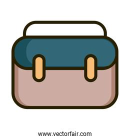 business suitcase financial stock market line and fill icon