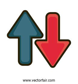 downturn and upturn financial business stock market line and fill icon