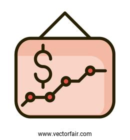 presentation graph report financial business stock market line and fill icon