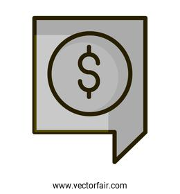 money economy financial business stock market line and fill icon