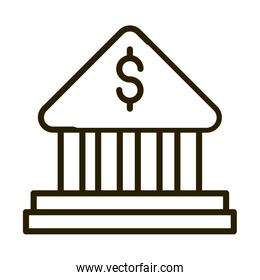 bank investment financial business stock market line style icon