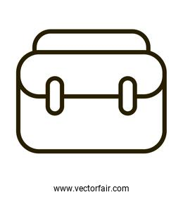 business suitcase financial stock market line style icon