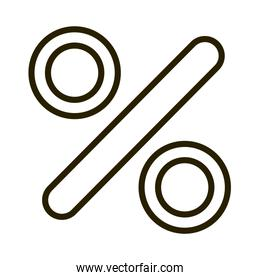 percentage financial business stock market line style icon