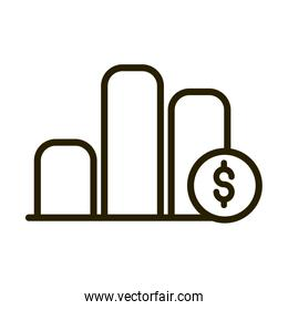 report chart diagram money financial business stock market line style icon