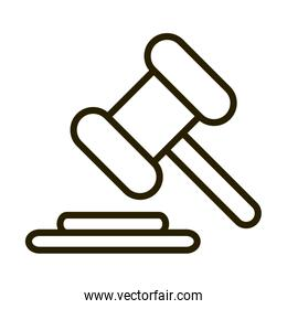 law hammer justice financial business stock market line style icon
