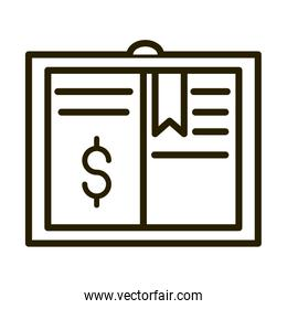 money financial business stock market line style icon