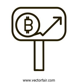 bitcoin cryptocurrency profit financial business stock market line style icon