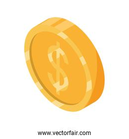 online shopping, money coin currency cash isometric isometric isolated icon