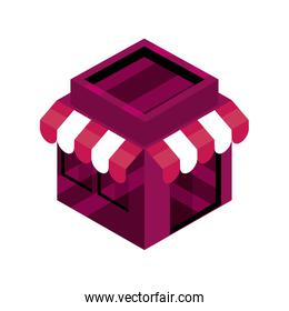 online shopping, market commerce market isometric isolated icon