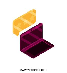 online shopping, laptop computer rating notification isometric isolated icon