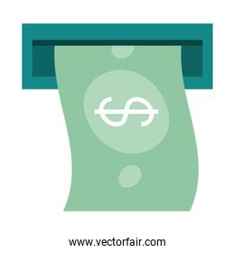 mobile banking, atm money banknote payment flat style icon