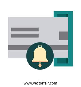 mobile banking, atm bank card credit money flat style icon
