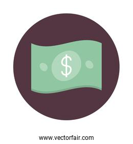 mobile banking, money banknote currency cash block style icon