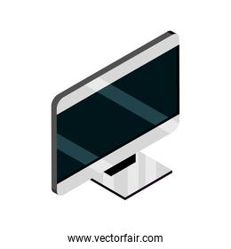 monitor computer device gadget technology isometric isolated icon