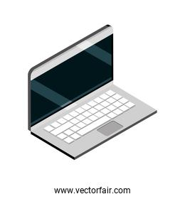 laptop computer device gadget technology isometric isolated icon