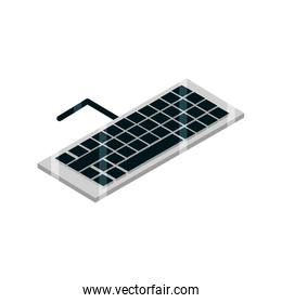 keyboard device gadget technology isometric isolated icon