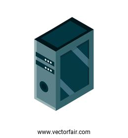 computer server device gadget technology isometric isolated icon