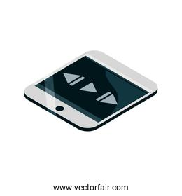 smartphone player button device gadget technology isometric isolated icon