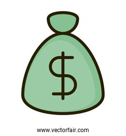 money bag safe business financial investing line and fill icon