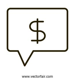 money message business financial investing line style icon
