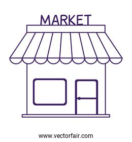 Isolated market store vector design