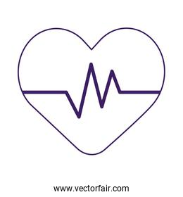 Isolated heart pulse vector design