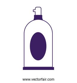 Isolated soap bottle vector design