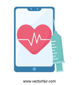 Heart pulse inside smartphone and injection vector design