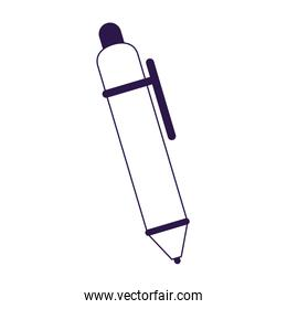 Isolated pen tool vector design