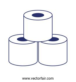 Isolated toilet paper vector design