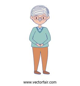 Isolated grandfather avatar vector design