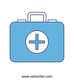 Isolated medical kit vector design